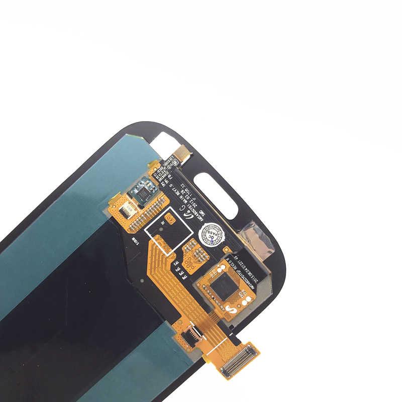 سوبر AMOLED شاشات lcd لسامسونج غالاكسي S3 شاشة الكريستال السائل i9300 i9300i i9308i i9301 i9301i اللمس شاشة قطع غيار محول رقمي