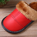 Winter Casual warm children shoes Thick Kids Home Shoes Child's Slippers Leather Boys Girls Shoes Genuine Leather CHW001