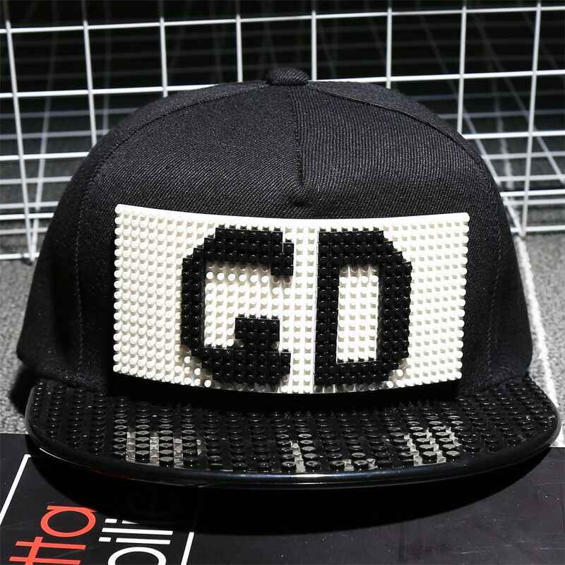 1fb9c149317 G D Personality Legos cap high quality blocks DIY legos baseball hat  trucker snapback hat for men