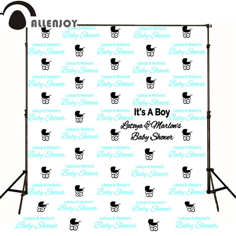 Photography background baby shower step and repeat Allenjoy backdrop custom made any size any style коньки роликовые алюминиевая основа р 35 38 x match 63120