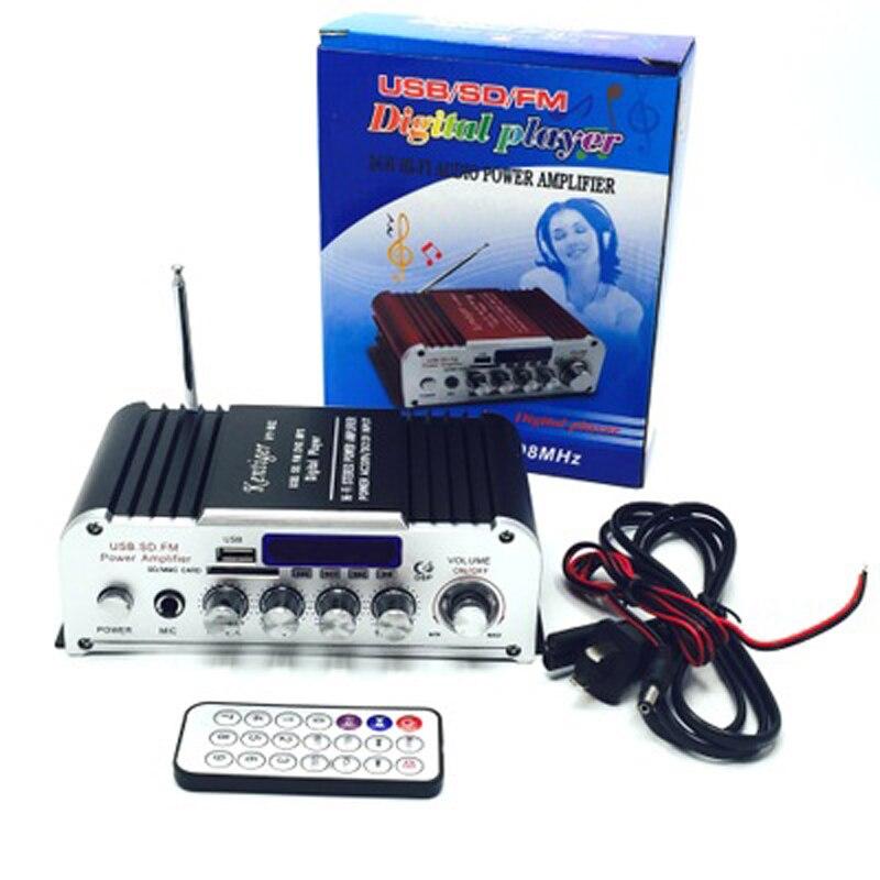 2pcs/lots Bluetooth Car Audio Power Amplifier 2CH HI-FI FM Radio Player Support