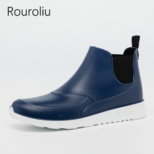 Lovers Casual Rainboots Fashion Classic Waterproof Water Shoes Women Light Comfortable Non-Slip Ankle Rain Boots RT234