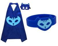 1 packs PJmasks Inspiriert Kostüm Cape; Maske + 1 stücke Party Dekoration Harz Geburtstagsfeier Für Kinder Armband Armband