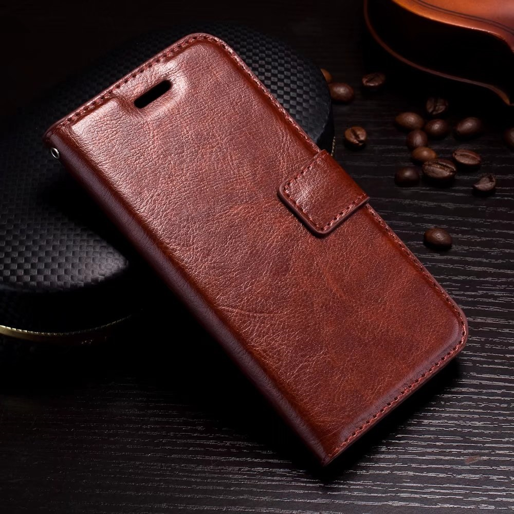 Vintage PU Leather Saddle Flip Wallet Cover Cases For iPhone X Ten 10 6 6S 7 8 Plus SE 5 5S Phone Luxury Back Cover Coque shell