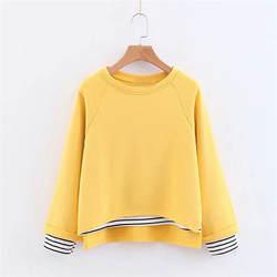Весна O образным вырезом пуловеры для женщин обычный хлопок полиэстер свободные женские толстовки Верхняя одежда Топы