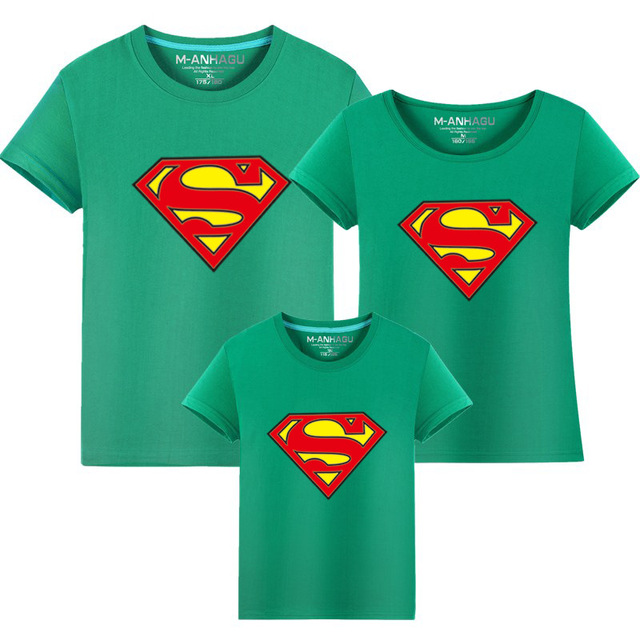 968f4ff191155 Father Son Baby Shirts Daddy Mother and Daughter Clothes Brother Big Sister  Little Sister Matching Outfits Superman Shirts-in Matching Family Outfits  ...