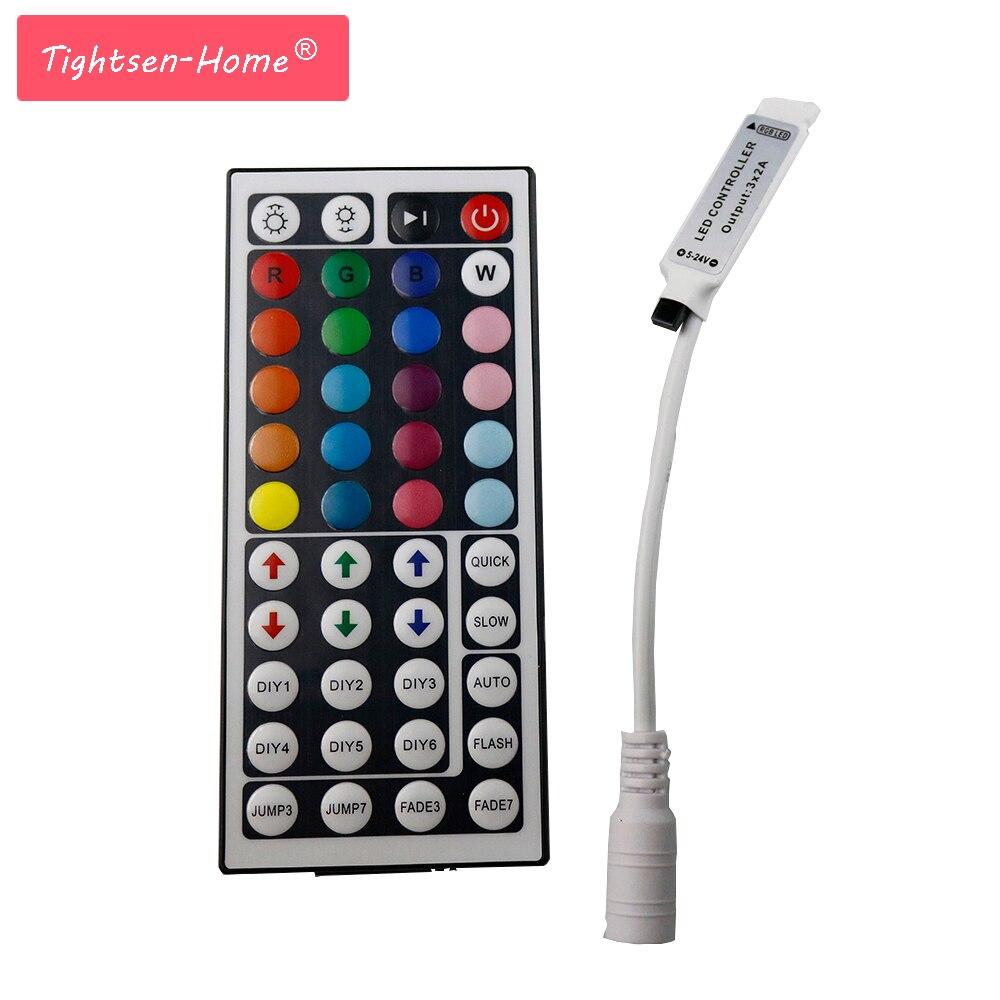 Mini 44 Keys LED IR RGB Controler For Flexible SMD3528 5050 5630 2835 DC12V RGB LED SMD Strip  Stripe String Ribbon Neon Lights