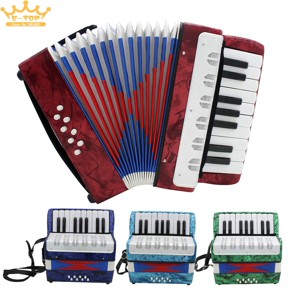17 Key Mini Accordion Educational Musical Instrument Cadence Band for Both Kids & Adult