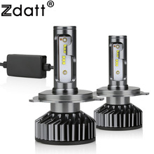 цена на Zdatt H4 LED Headlight HB2 9003 LED H4 Bulbs for Cars Canbus Running Lights 12000LM 100W 6000K 12V 24V Auto Lamp No Radio Noise