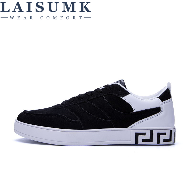 2018 LAISUMK Classic Canvas Shoes Men Casual Comfortable Round Toe Lace-up Flat Shoes Fashion Breathable Wear-resistant Shoes