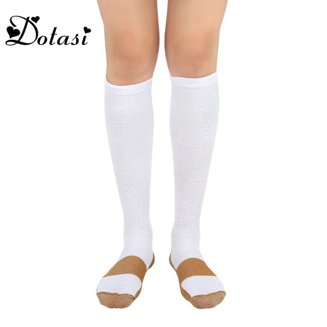 e8dc85363 1 Pair Copper Compression Socks Knee High Men and Women Support Pain Relief  Stockings Relieves Varicose and Swollen Ankles Sock