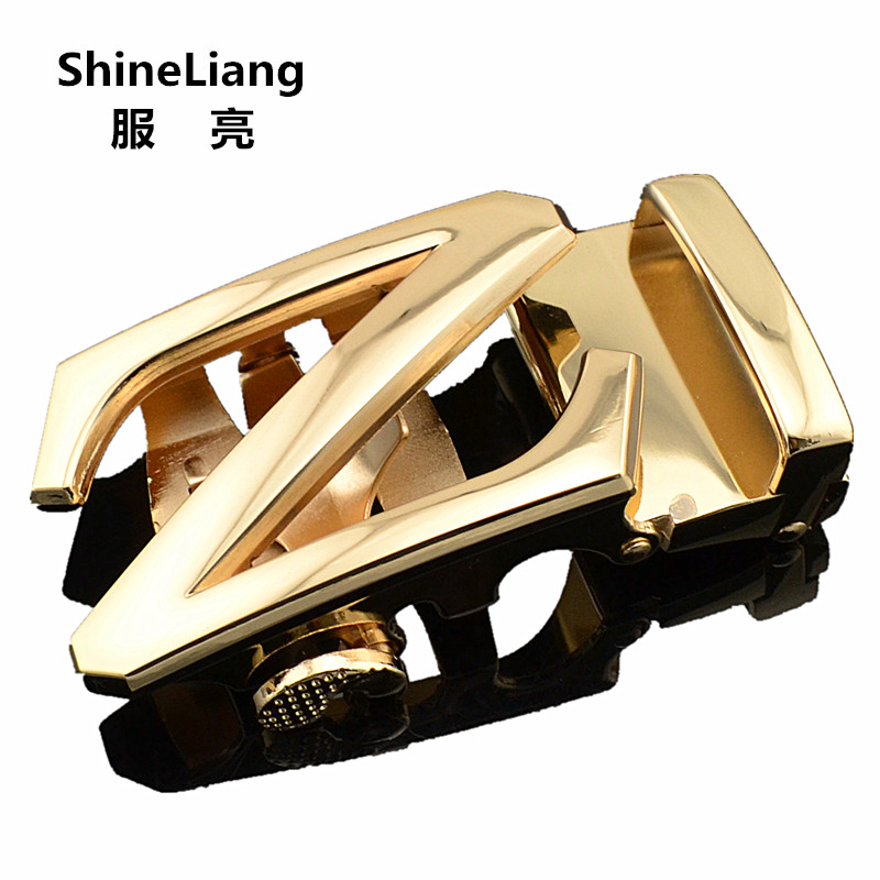 Automatic Belt Buckle For Men Not Contain Body Fashion Business Style Suitable For Jeans Width 3.5cm Genuine Leather Waist Tape