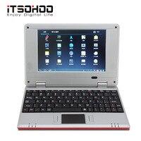 Comprar 5 colores precio bajo 7 pulgadas Android Netbook mini ordenador portátil con RJ45 wifi rojo rosa