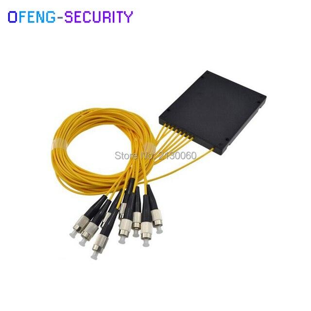 ABS FC-UPC 1X8 PLC сплиттер оптический разветвитель box одиночный режим с FTTH плосковолноводную оптический пара