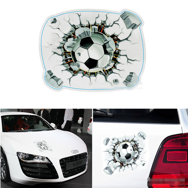Cool 3d football car sticker cartoon spray paint color covers car stickers car styling auto accessories