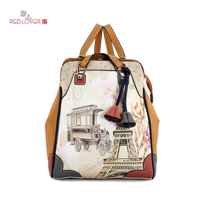 ФОТО Brand New female backpack Korean style shoulder bags PU leather Knapsack Teenagers backpacks Red Lover