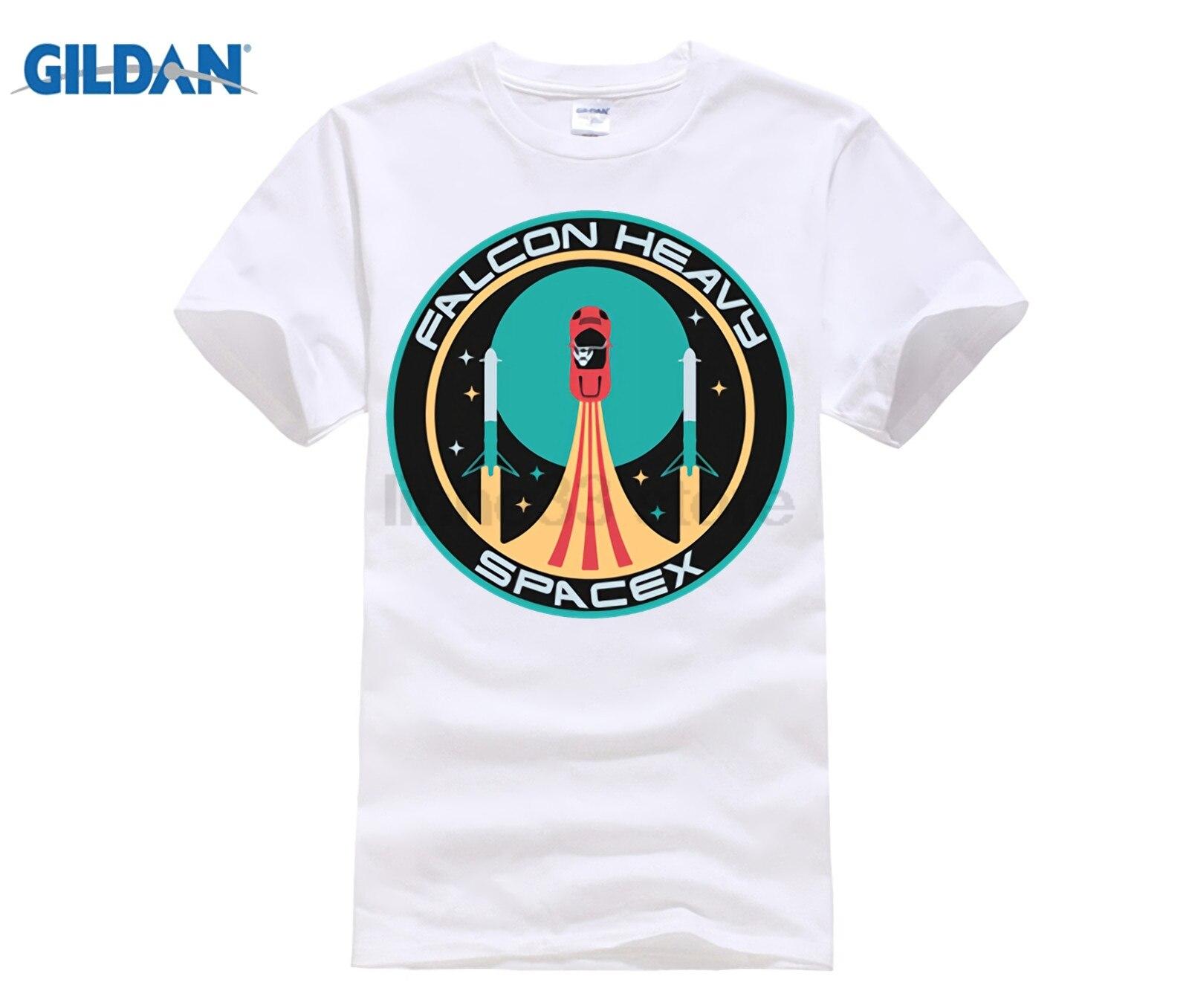 e031638dc SpaceX T-shirt Elon Musk heavy T shirts men Mars starman car Tee shirt  rocket tshirt StarmanX T shirt Tesla Roadster Tees