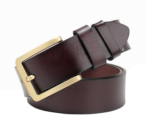 Cintura Cinture in Pelle da Uomo Reale nuovi originali Pantaloni Fibbia Marrone Nero Tan Jeans