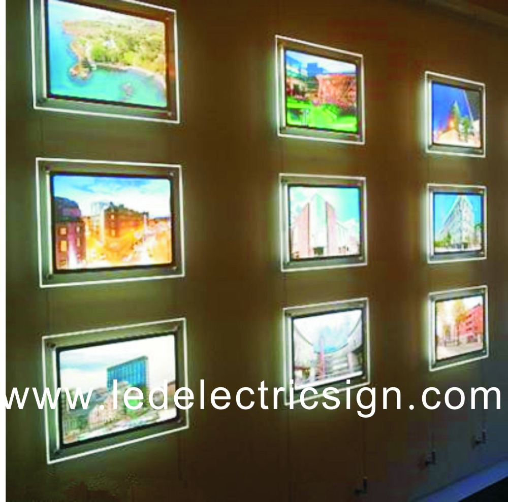 high quality acrylic led poster frame advertising led light box in advertising lights from. Black Bedroom Furniture Sets. Home Design Ideas