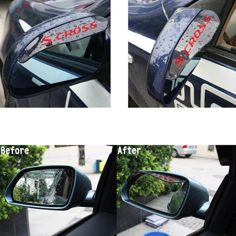For Suzuki Alivio Alto S cross Swift Vitara Rearview Mirror Rain Eyebrow Flap Shield Shade Rainproof Blades Flexible PVC Cover линейный массив alto sxa28p