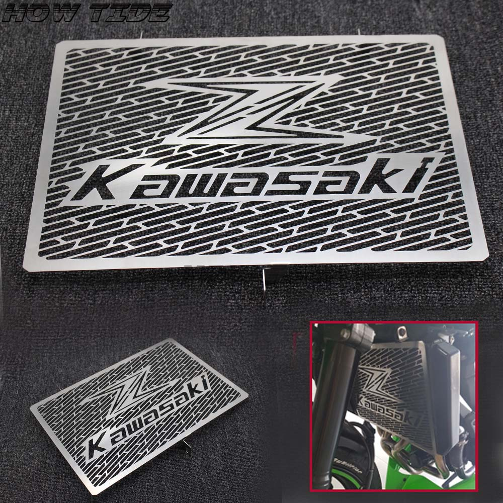 <font><b>2016</b></font> New Stainless Steel Motorcycle Radiator Grille Guard Cover Protector For Kawasaki Z750 Z800 ZR800 Z1000 <font><b>Z1000SX</b></font> image