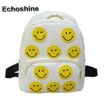 2016 Women Backpack Smile Emoji Backpack Emoticon Pack School Ladies Shoulder Bag Travel School Bags wholesale mochila feminina