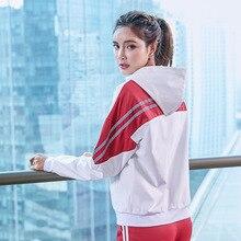 Sports-Jacket Windbreaker Lightweight Zipper Women Hooded Cortaviento Patchwork Long-Sleeve