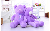 55 см/75 см мультфильм мишка большой лаванды медведь плюшевые игрушки куклы медвежьи подушки, фиолетовый Медведь кукла животных