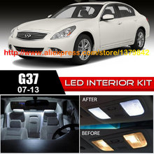Free Shipping 10Pcs/Lot car-styling Xenon White Package Kit LED Interior Lights For 07-12 Infiniti G37