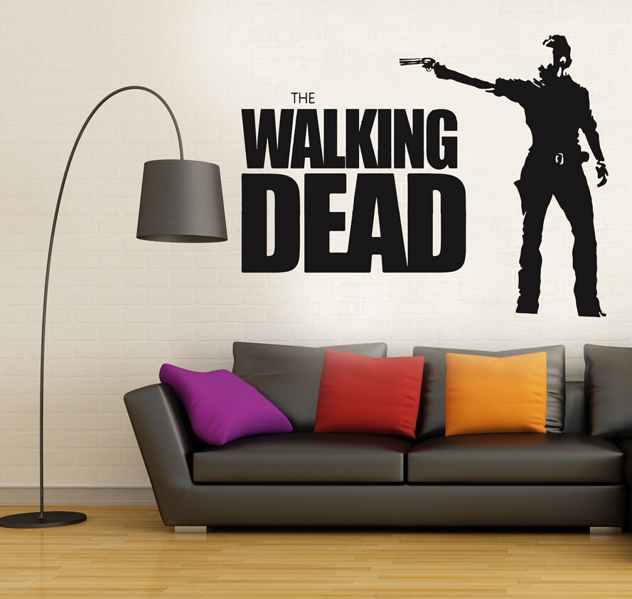 Walking Dead Wall Decal Sticker Decor The Collection 4 Removable Vinyl Living Room Mural D201 In Stickers From Home