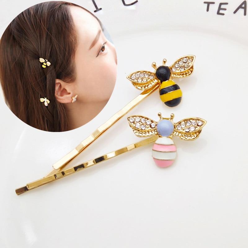 Металлическая заколка для волос Kawaii Mini Bee, 1 шт., металлическая заколка для волос, гребень для волос, заколка для волос, аксессуары для головного убора, инструменты для стайлинга красоты