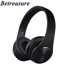Betreasure Bluetooth Foldable Headset Stereo Wireless Headphones Sport Earphone Microphone Earphone For Android IOS P