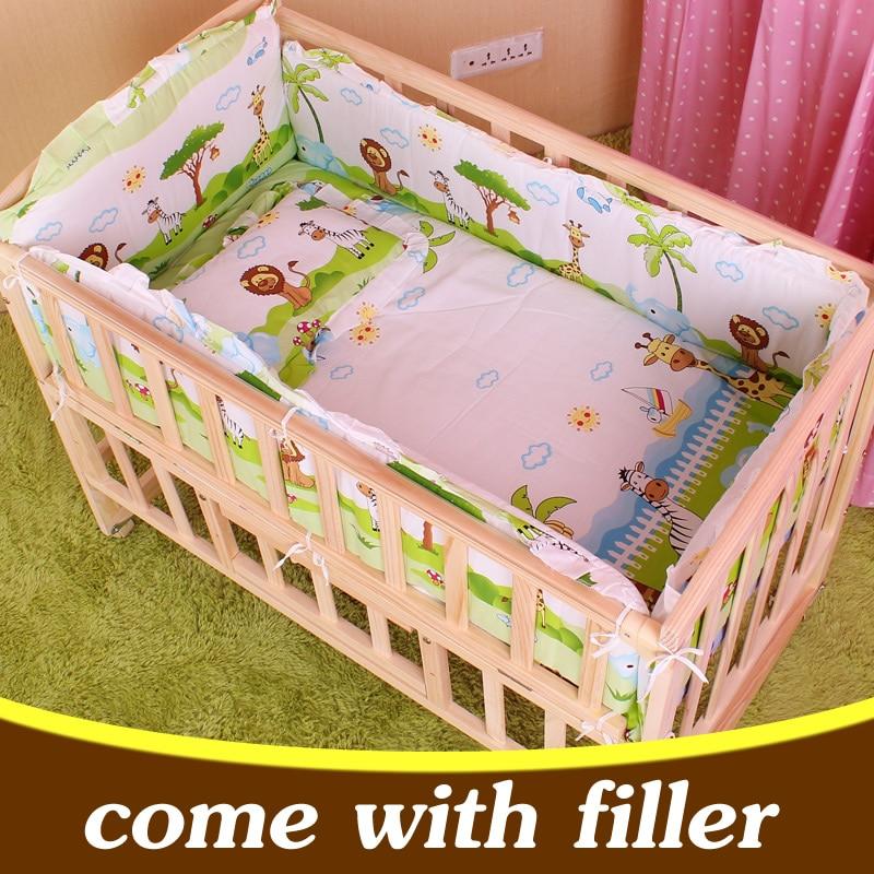 5PCS/set newborn baby bedding set for girl boys bedding set 100x58cm baby crib bumper baby cot set baby bed bumper CP01