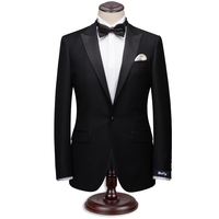 Custom Made Dark Black Men Suit Tailor Made Suit Bespoke Light Navy Blue Men Wedding Suit