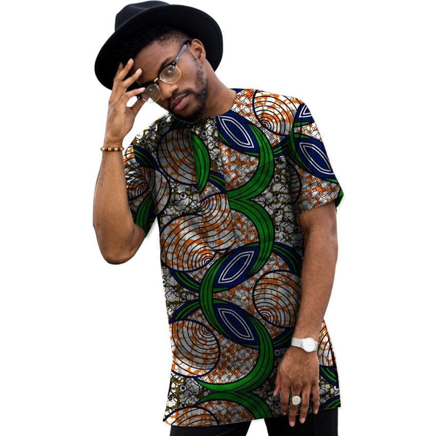 Sommar Dashiki Män Klänning Afrikansk Kläder Mode Tryck Korta - Nationella kläder - Foto 4