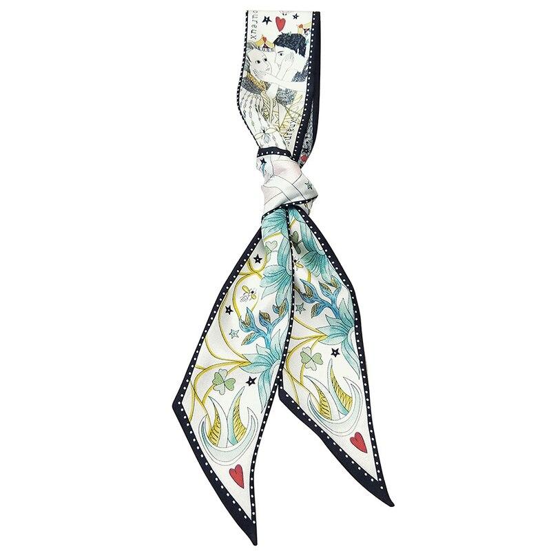 Fashion Waist Fabric Belts Women Ladies Silk Scarf Rope Dresses Ceinture Femme Hairband Ribbon Bag Band Scarf Multi-functionBelt