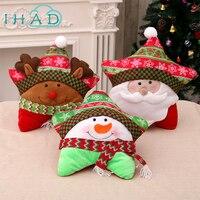 Christmas Cushion Cartoon Santa Claus Pillow Xmas Party Cushion Home Decoration Gift For For Chair Can