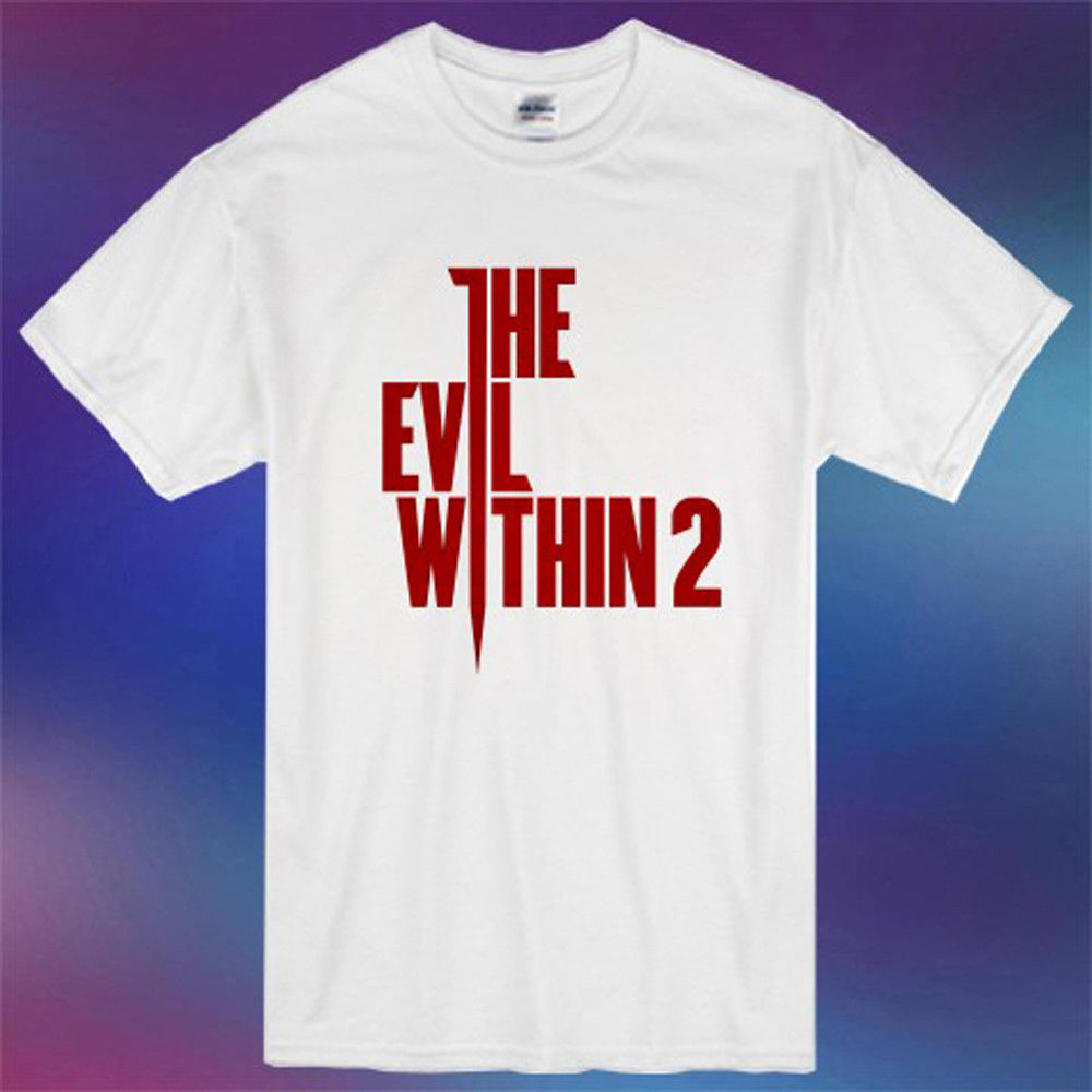 New The Evil Within 2 Famous Survival Horror Game Mens White T-Shirt Size S-3XL Men Cotton T Shirt Printed T Shirt Top Tee