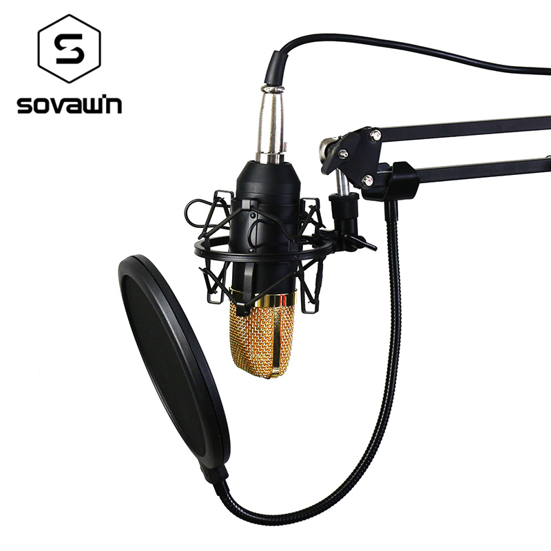 KTV BM 700 Condenser karaoke Microphone Audio Studio Professional Computer bm700 Mic Stand Holder Vocal Recording for PC  professional switch dynamic wired microphone stand metal desktop holder for beta 58 bt 58a ktv karaoke mic microfone audio mixer