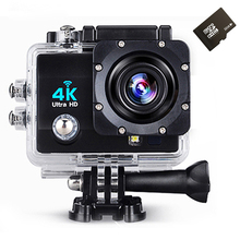 Wi-fi 4 К Действий Камеры Full HD 1080 P 60fps 2.0 ЖК 170 Градусов Водонепроницаемый 30 М Видеонаблюдения Видеокамеры спорт Камеры