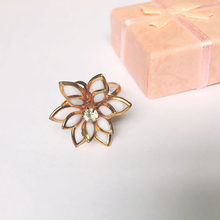Flower Ring -NFS- NEW Romantic Snow Lotus Ring White Camellia Ring Jewelry Wholesale #1796407(China)