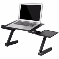 Portable Adjustable Aluminum Laptop Desk Ergonomic TV Bed Laptop Tray PC Table Stand Notebook Table Desk