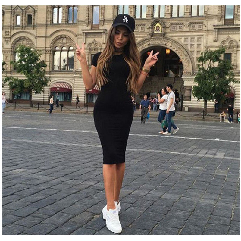 2019 Summer Women New Sexy Fashion hot bag hip single dress vestidos de fiesta de noche Plus Size S-XL  C0491