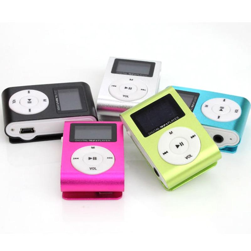 MP3 Music Player Mini Metal Clip Support 32GB Micro SD TF Card Earphone Qaulity