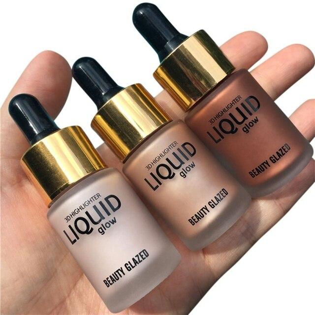 1 PC belleza líquido resaltador maquillaje resaltador crema corrector brillo cara Ultra concentrada
