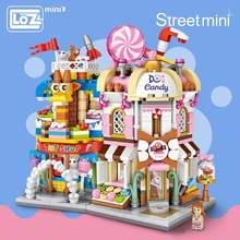LOZ Mini Bricks City View Scene Mini Street Model Building Block Toys Gaming Room Candy Shop Toy Store Architecture Children DIY(China)