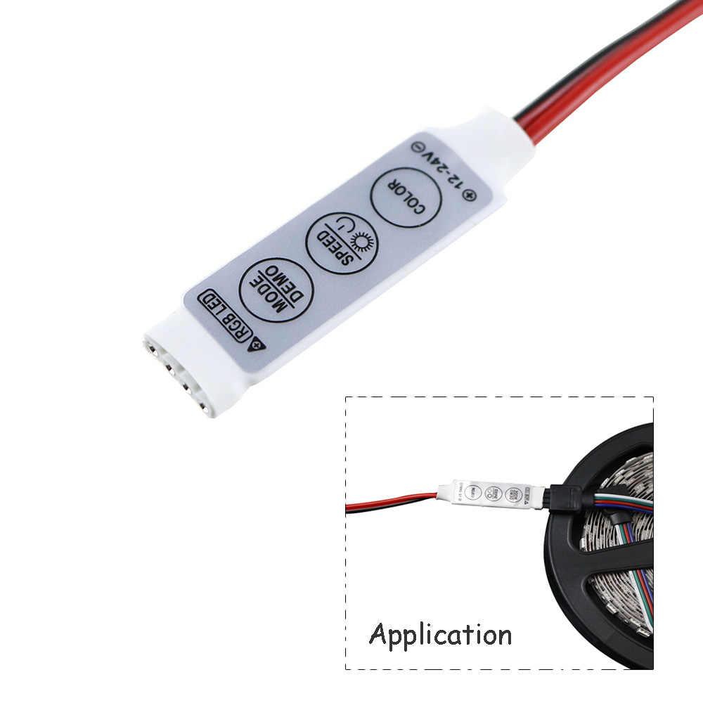 Mini Chaves 3 12V Brilho LED RGB Controlador Dimmer Para 5050 3528 Cor Única Ou RGB Conduziu a Luz de Tira JQ