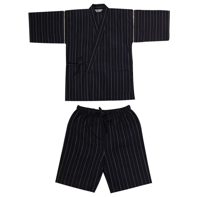 a4db920b4e 2017 Men Cotton Yukata Kimono Suit Men Japanese Traditional Pajamas set  Summer Japanese Style Bathrobe 82003