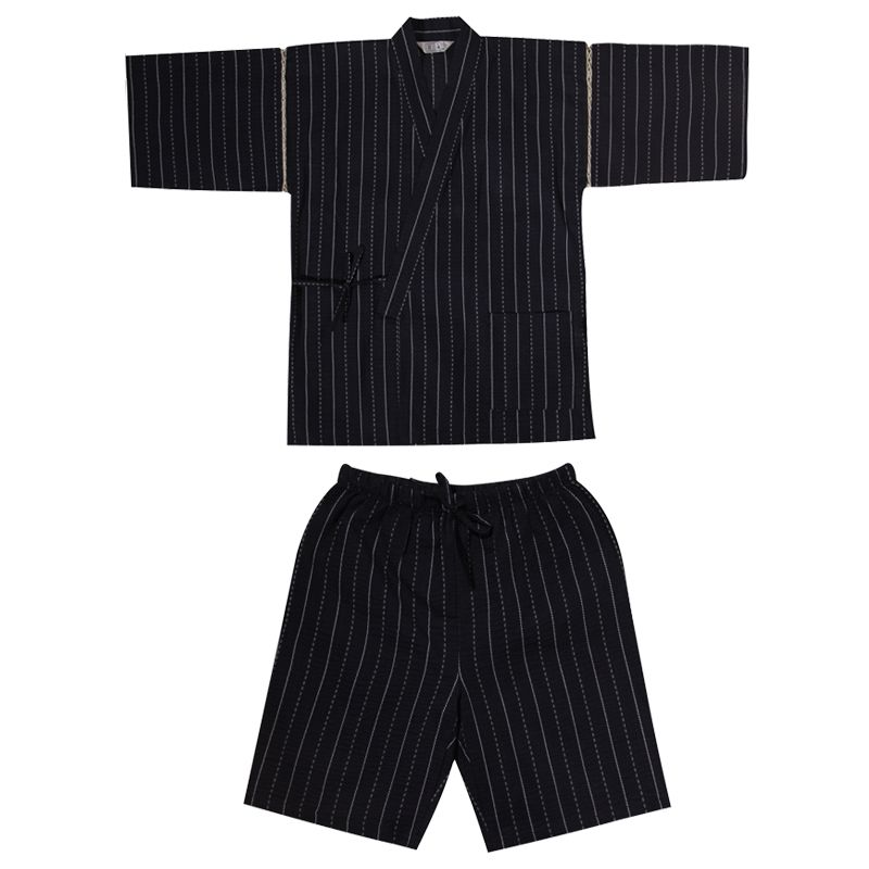 2019 Men Cotton Yukata Kimono Suit Men Japanese Traditional Pajamas Set Summer Japanese Style Bathrobe 82003