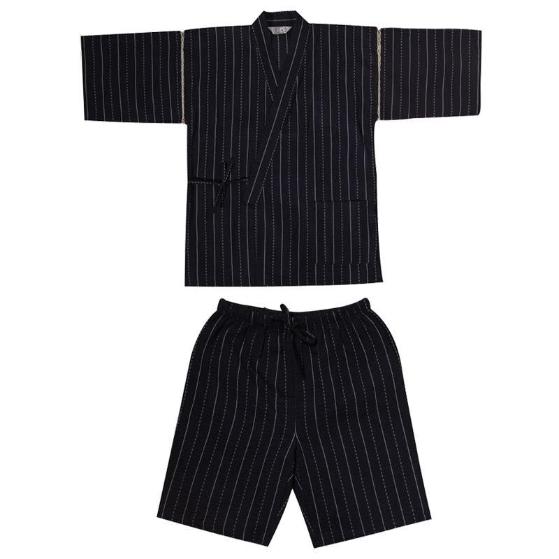 2019 Men Cotton Yukata Kimono Suit Men Japanese Traditional Pajamas Set Summer Japanese Style Bathrobe 82003